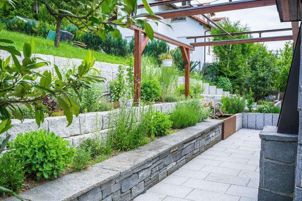 Gartenbau Mauer Granit